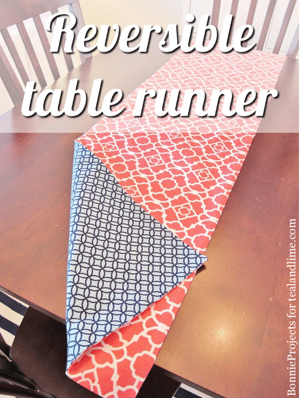 diy gifts reversible table runner bonnieprojects for tealandlime sewing tutorial