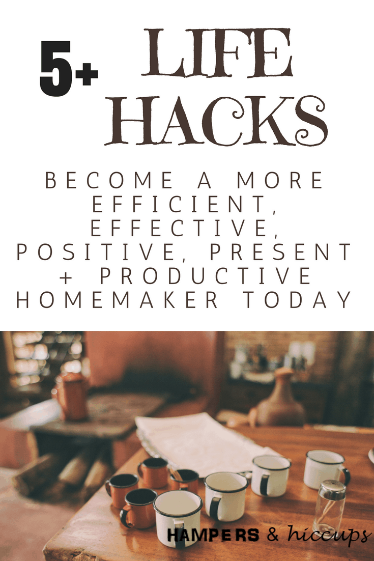 5 life hacks to be a better homemaker today. Be more efficient, effective, productive, positive and present with your home and your family. Create a happy atmosphere for your kids and spouse. Foster love, encouragement and happiness by implementing these 5 action items into your daily life. They're simple but effective. 5 tips overlap and combine to create a web of efficiency. Learn more and grab the juicy 6th tip here!