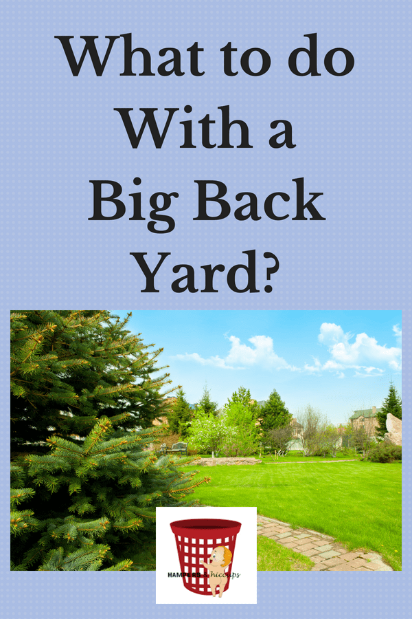 What to do with a big back yard? image large yard with brick walkway trees hampersandhiccups