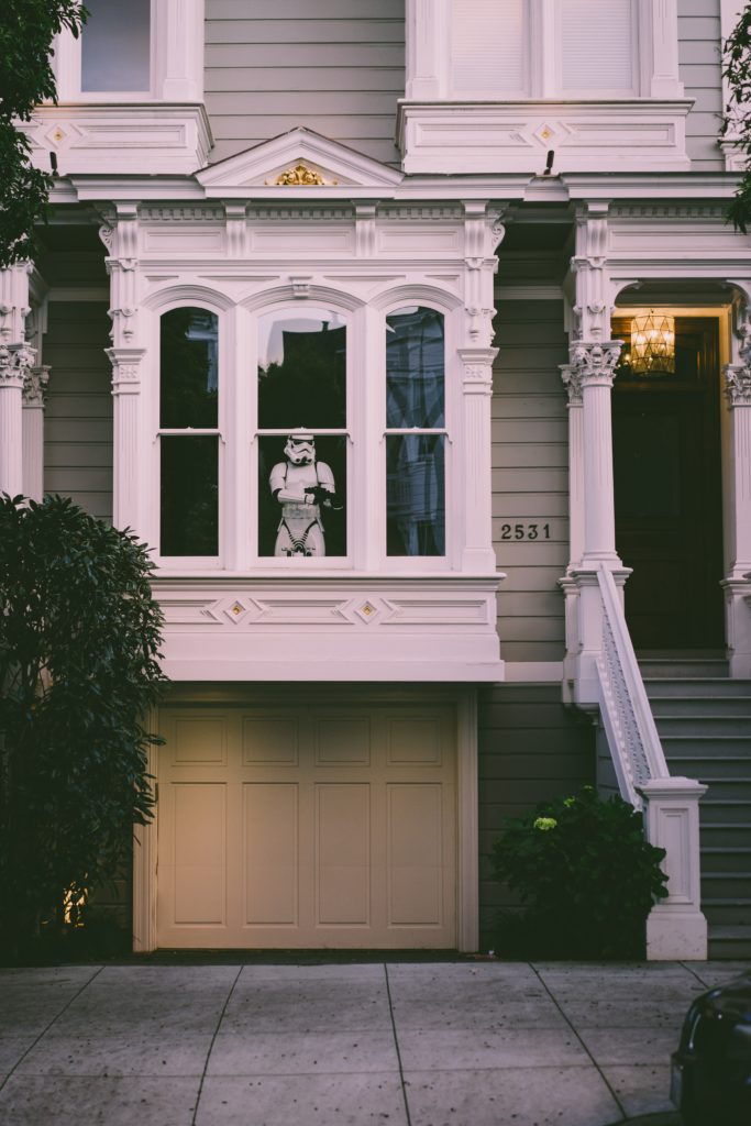 Keep Your Home Safe With These 3 Tips front window of a house star wars storm trooper protecting house