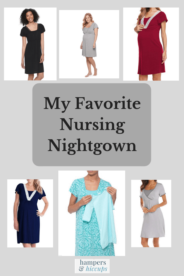 My Favorite Nursing Nightgown maternity pajamas styles posed by models hampersandhiccups