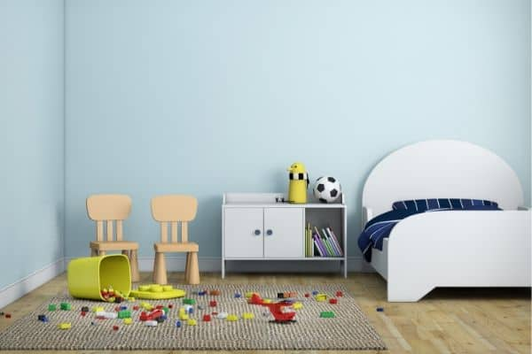 Get your kids to clean their rooms lego mess boys bedroom